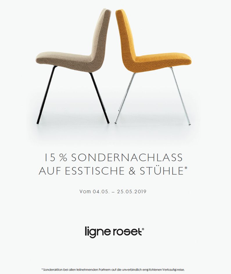 Ligne Roset Hamburg Promo Esstische und Stühle